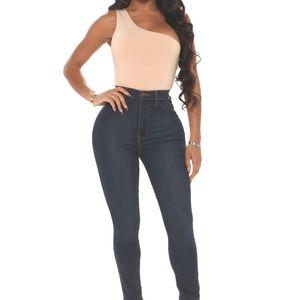 Fashion Nova Classic High Waist Skinny Jeans sz 5